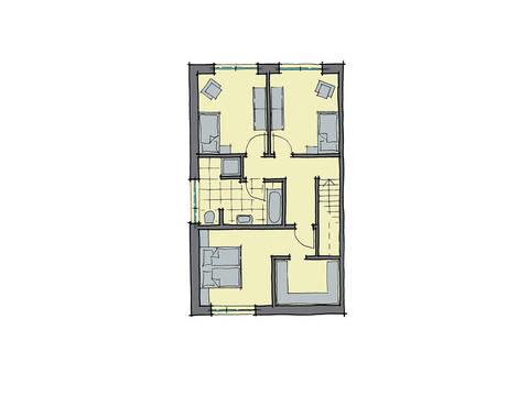 GUSSEK-HAUS - Doppelhaus Mailand Grundriss DG