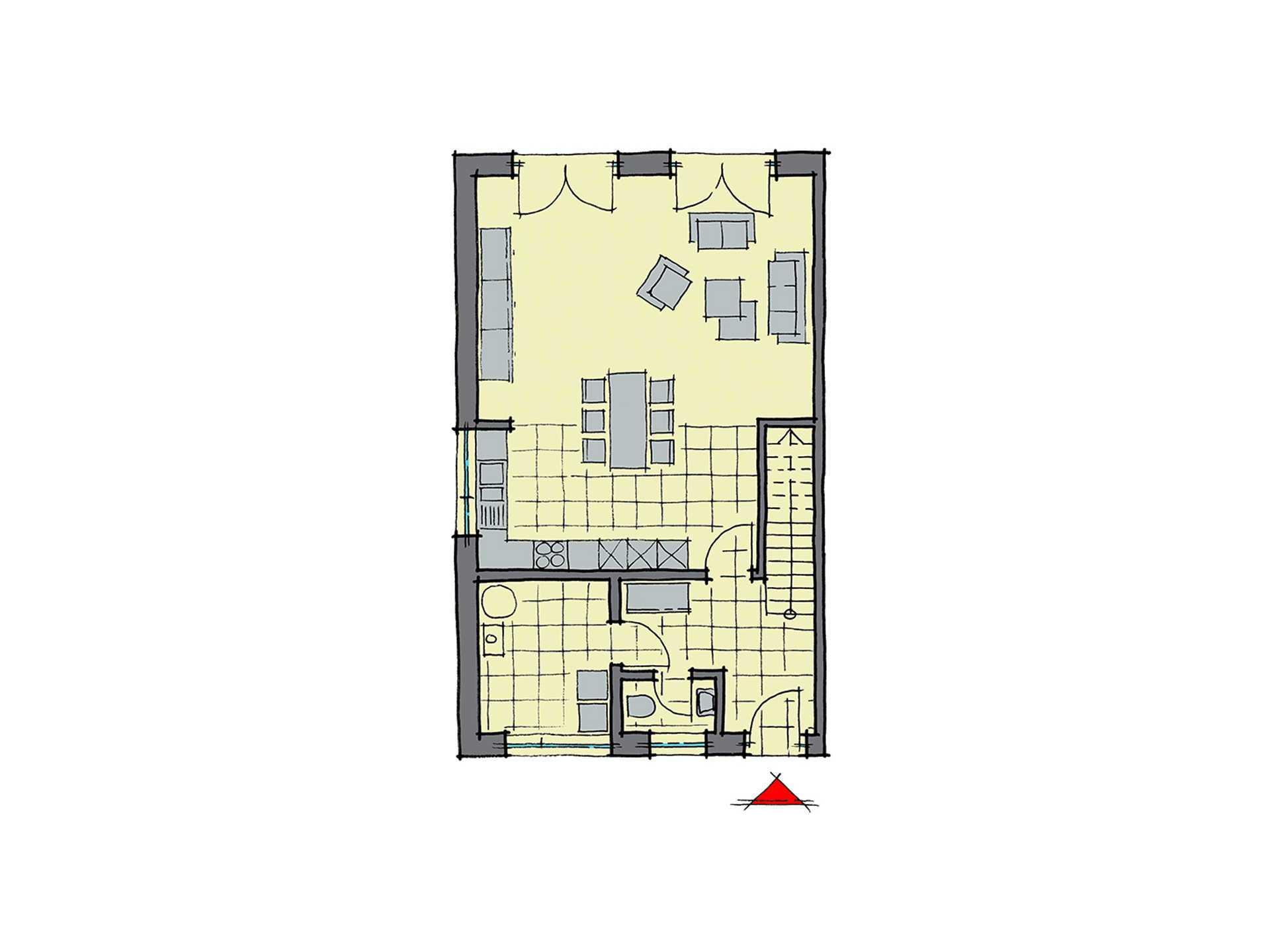 GUSSEK-HAUS - Doppelhaus Mailand Grundriss EG