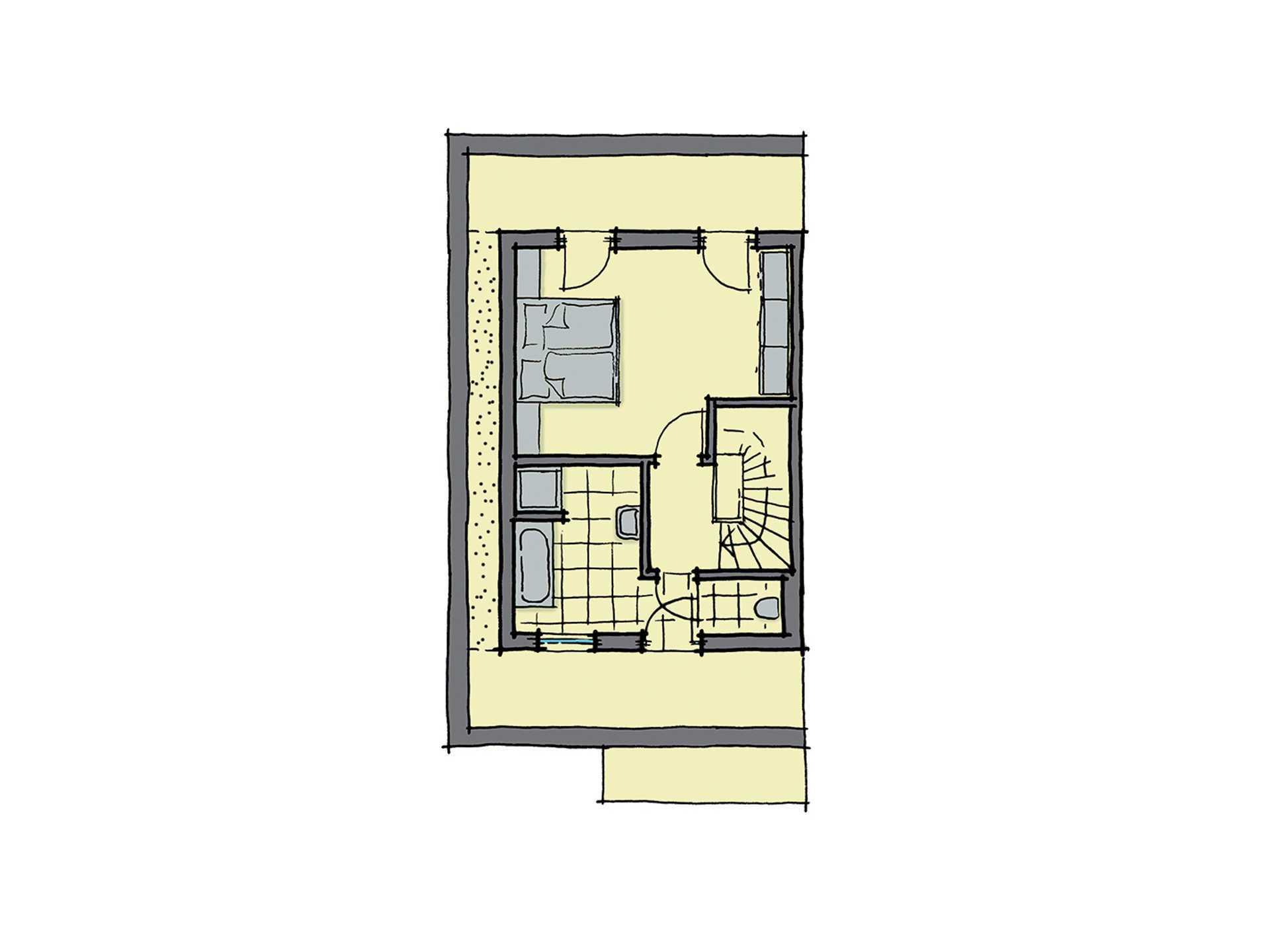 GUSSEK-HAUS - Doppelhaus Malaga Grundriss DG