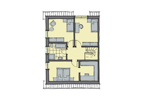 GUSSEK-HAUS - Doppelhaus Malmö Grundriss DG