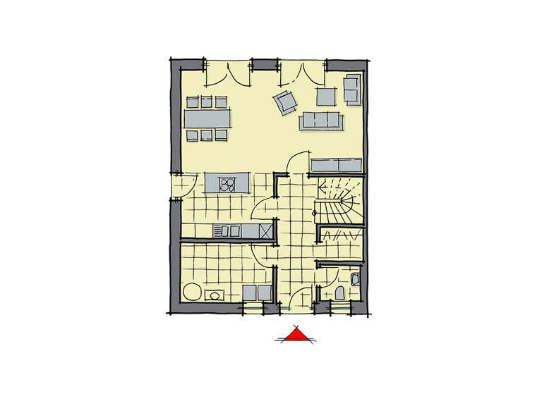 GUSSEK-HAUS - Doppelhaus Malmö Grundriss EG