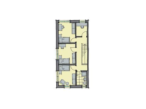 GUSSEK-HAUS - Doppelhaus Marseille Grundriss DG