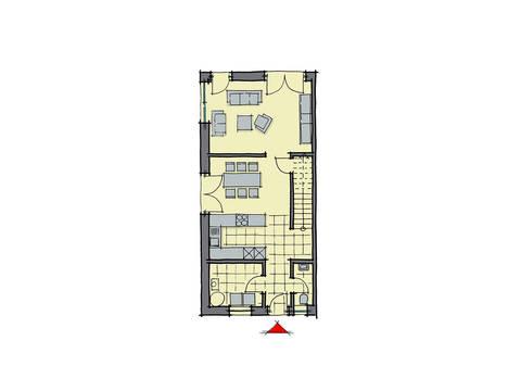 GUSSEK-HAUS - Doppelhaus Marseille Grundriss EG
