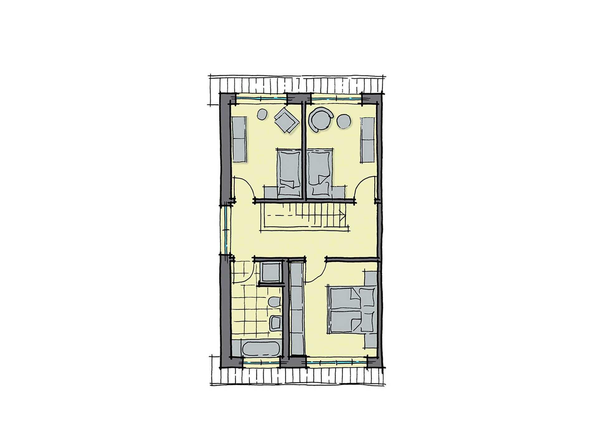 GUSSEK-HAUS - Doppelhaus Modena Grundriss DG