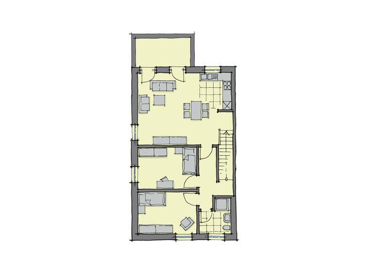 GUSSEK-HAUS - Doppelhaus Monza Grundriss DG