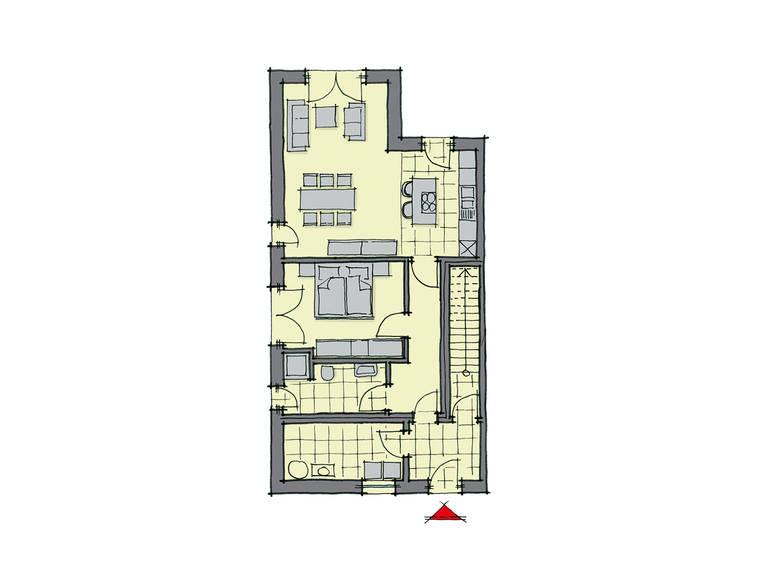 GUSSEK-HAUS - Doppelhaus Monza Grundriss EG