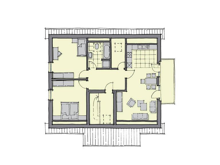 Zweifamilienhaus neapel gussek haus for Zweifamilienhaus grundriss fertighaus