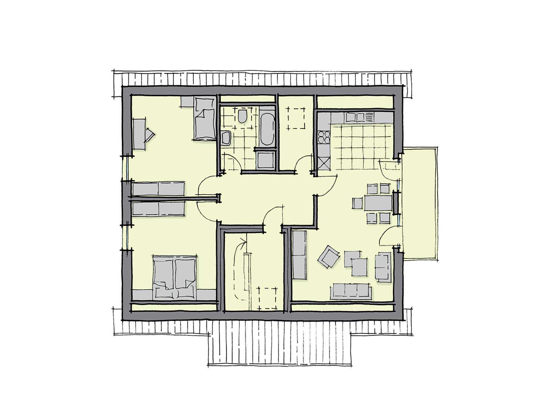 Zweifamilienhaus neapel gussek haus for Zweifamilienhaus grundriss