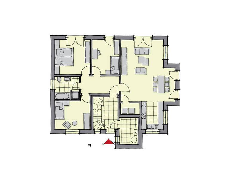 GUSSEK-HAUS - Zweifamilienhaus Neapel Grundriss EG