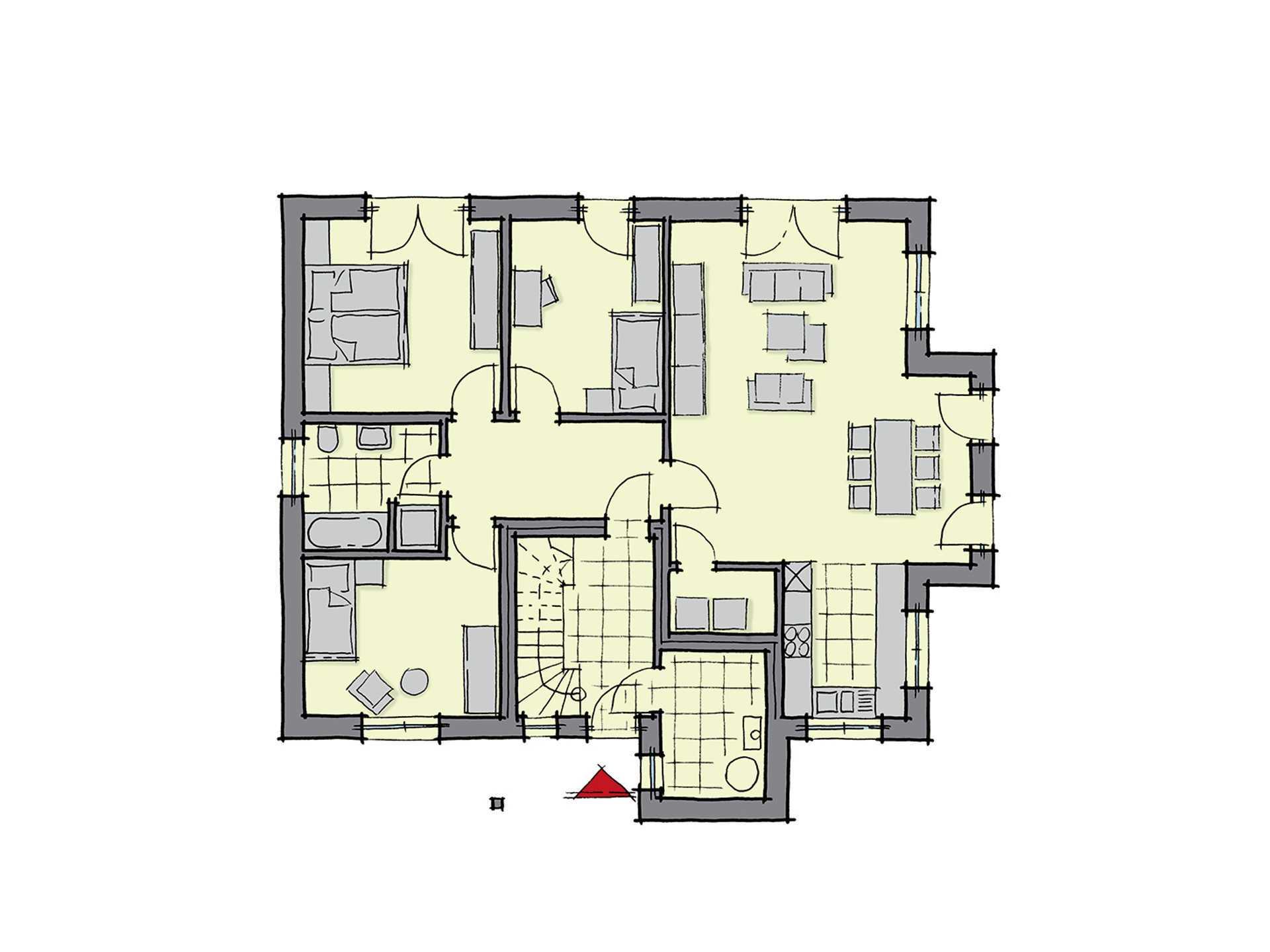 Zweifamilienhaus neapel gussek haus for Muster grundrisse haus