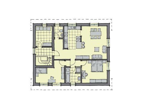 GUSSEK-HAUS - Zweifamilienhaus Parma Grundriss DG