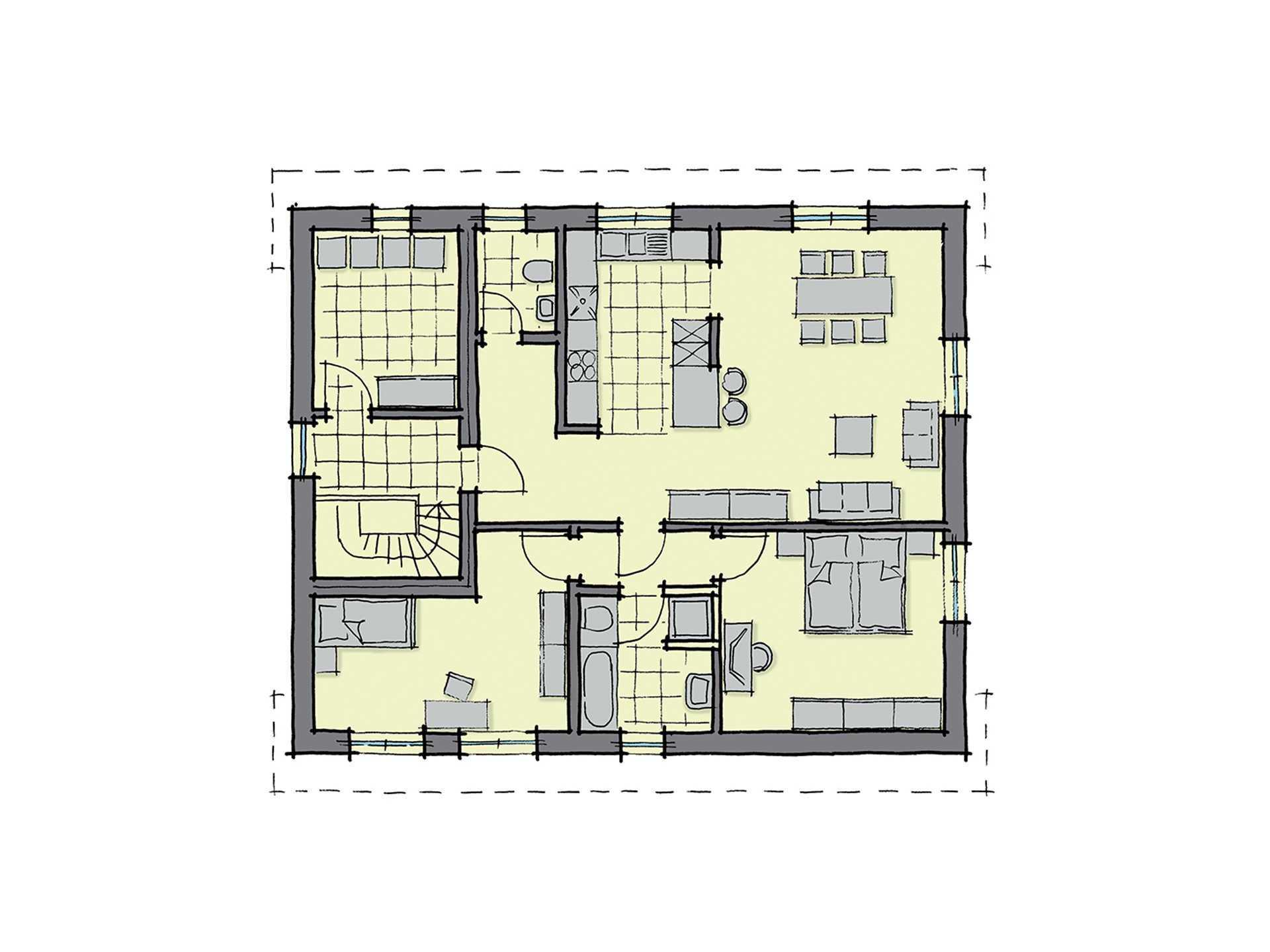 Zweifamilienhaus parma gussek haus for Bauplan zweifamilienhaus