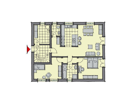 GUSSEK-HAUS - Zweifamilienhaus Parma Grundriss EG