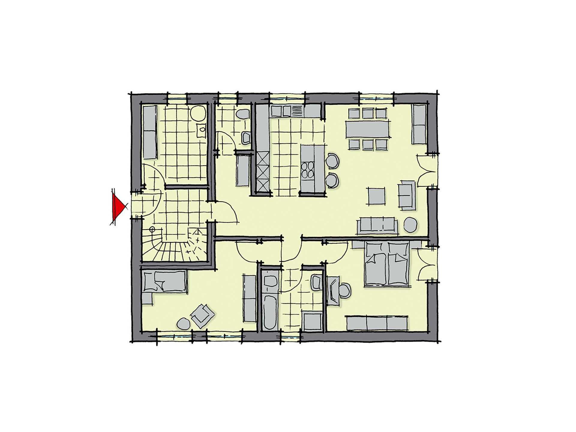 Zweifamilienhaus parma gussek haus for Zweifamilienhaus grundriss