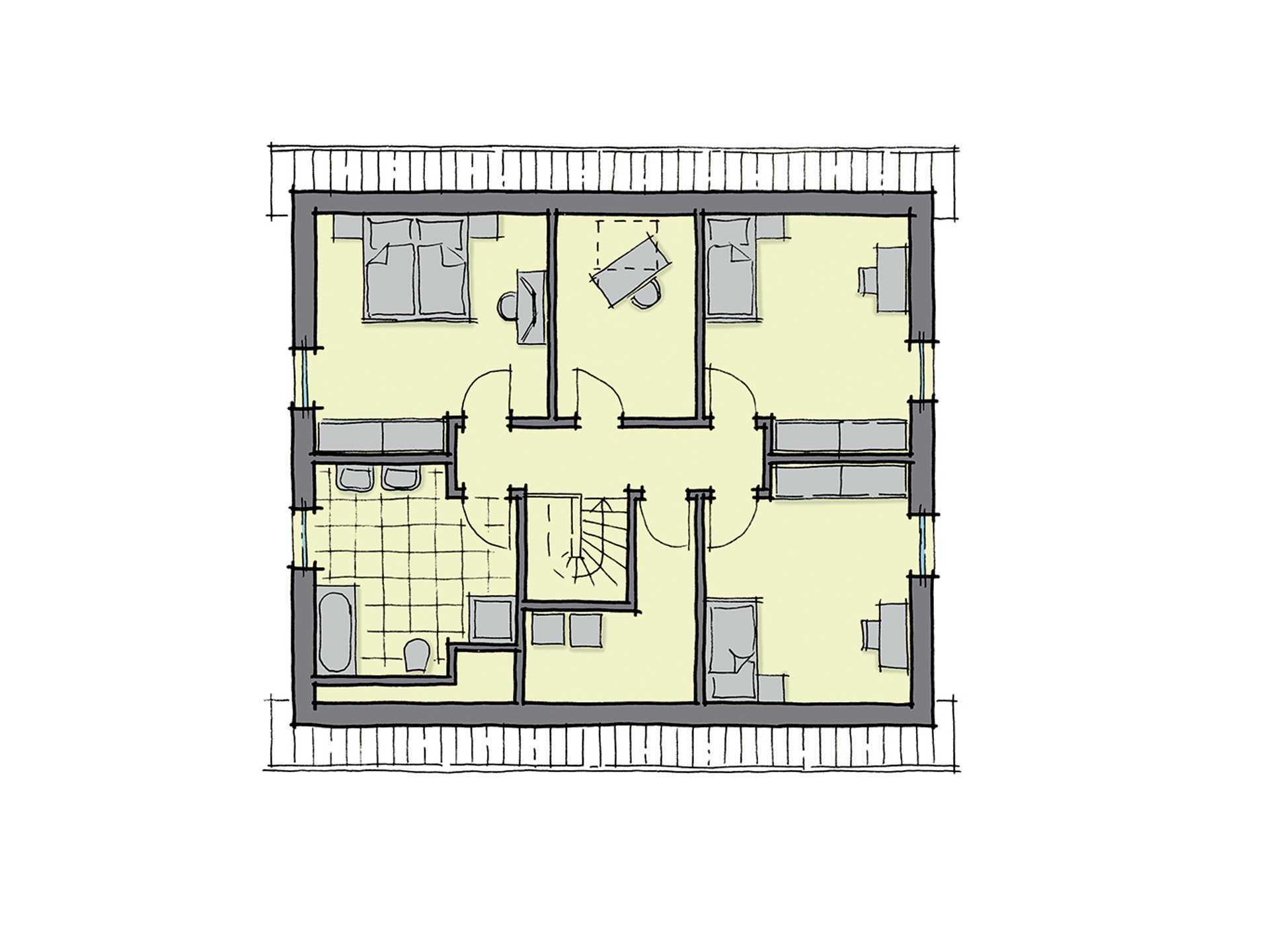 GUSSEK-HAUS - Einfamilienhaus Valencia Grundriss DG