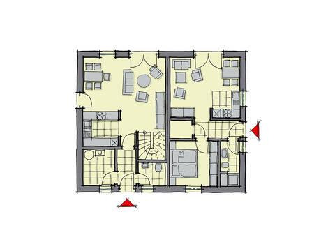 GUSSEK-HAUS - Einfamilienhaus Valencia Grundriss EG