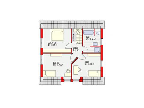 Dörr Haus - Einfamilienhaus Ambiente 135 Grundriss DG