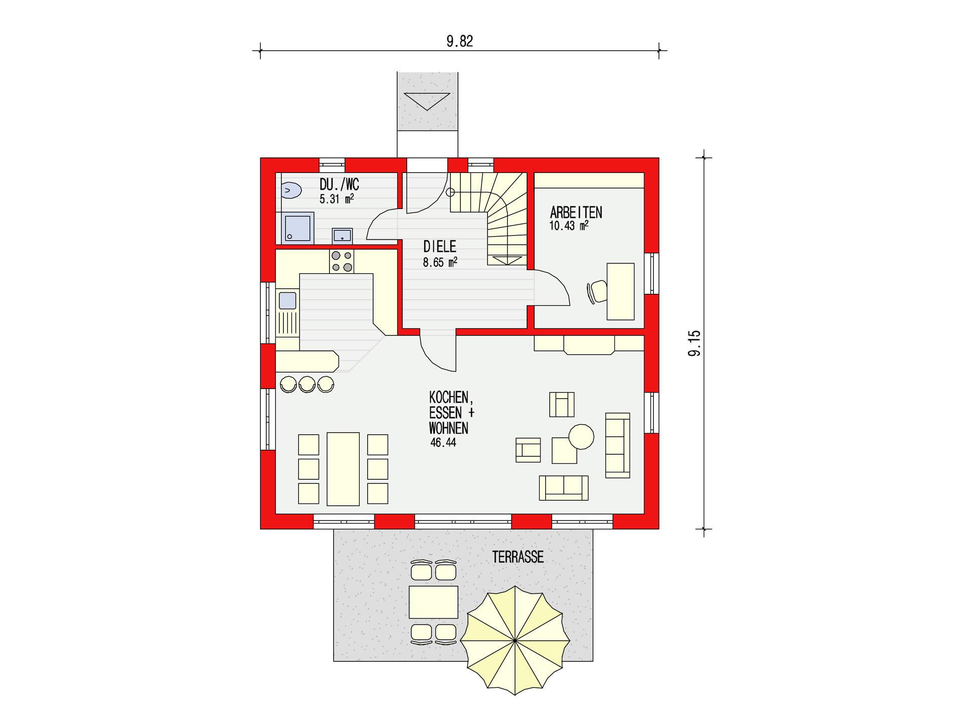 ambiente 135 einfamilienhaus d rr haus. Black Bedroom Furniture Sets. Home Design Ideas