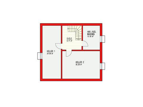 Dörr Haus - Einfamilienhaus Ambiente 135 Grundriss KG