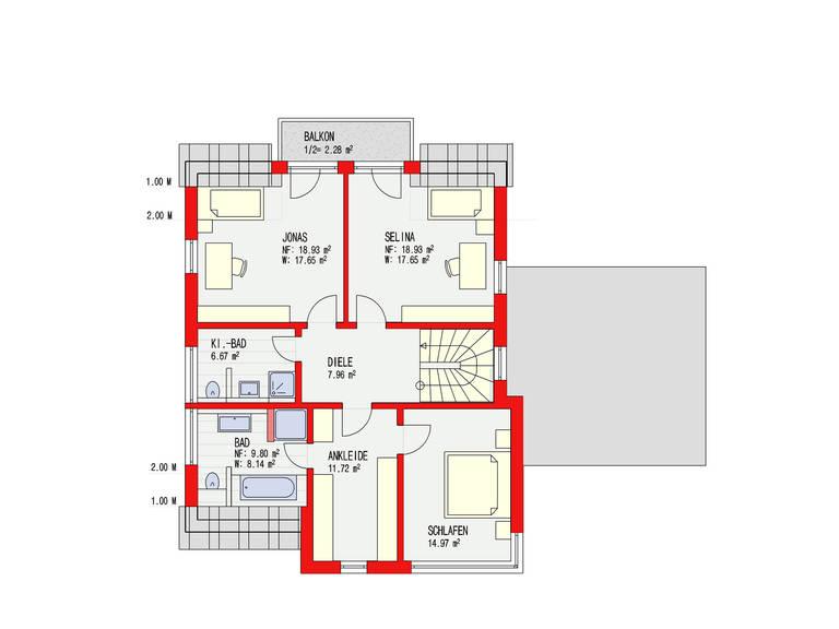 Dörr Haus - Einfamilienhaus Ambiente 170 Grundriss DG