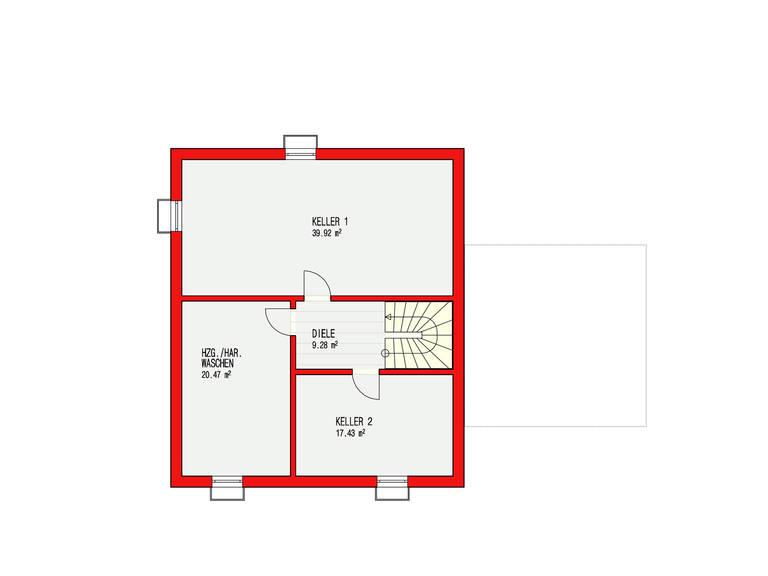 Dörr Haus - Einfamilienhaus Ambiente 170 Grundriss KG