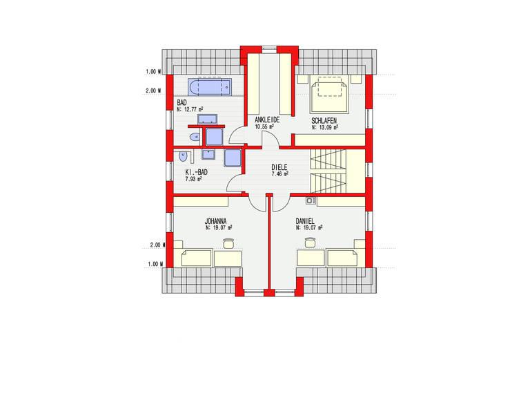 Dörr Haus - Einfamilienhaus Ambiente 186 Grundriss DG