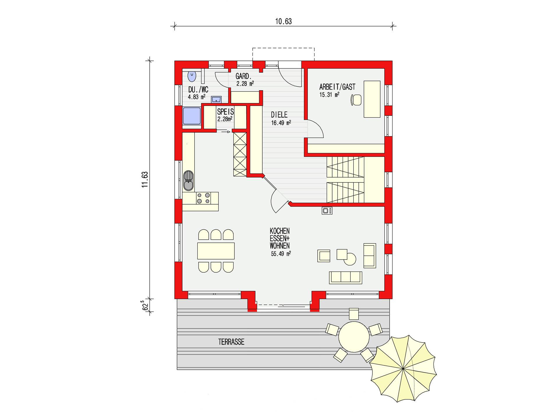 ambiente 186 einfamilienhaus d rr haus. Black Bedroom Furniture Sets. Home Design Ideas