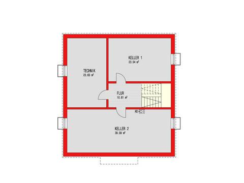 Dörr Haus - Einfamilienhaus Ambiente 186 Grundriss KG