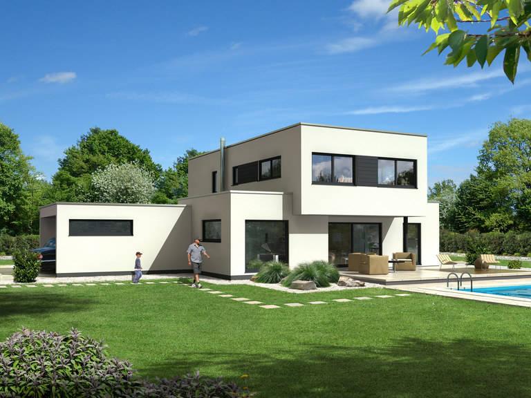 Dörr Haus - Einfamilienhaus Kubus 170 Außenansicht 1