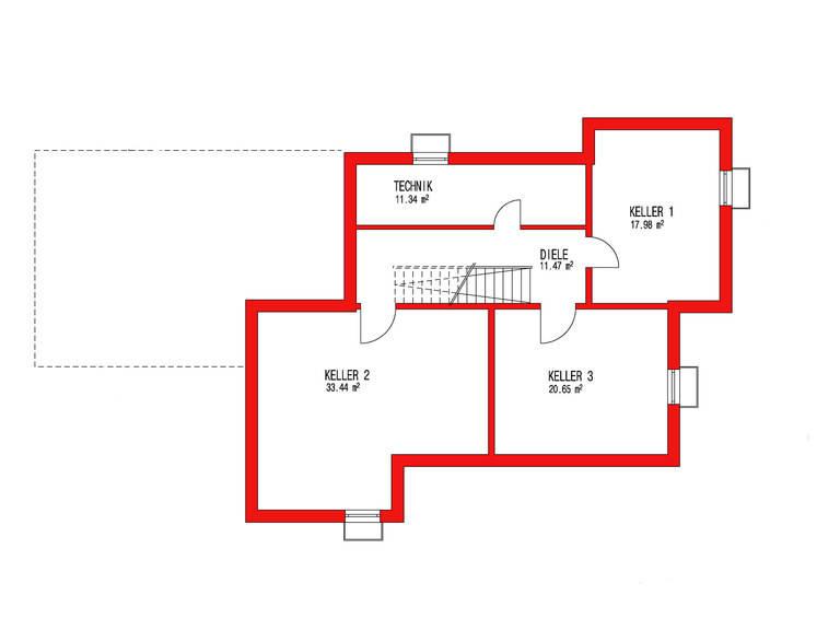 Dörr Haus - Einfamilienhaus Kubus 170 Grundriss KG