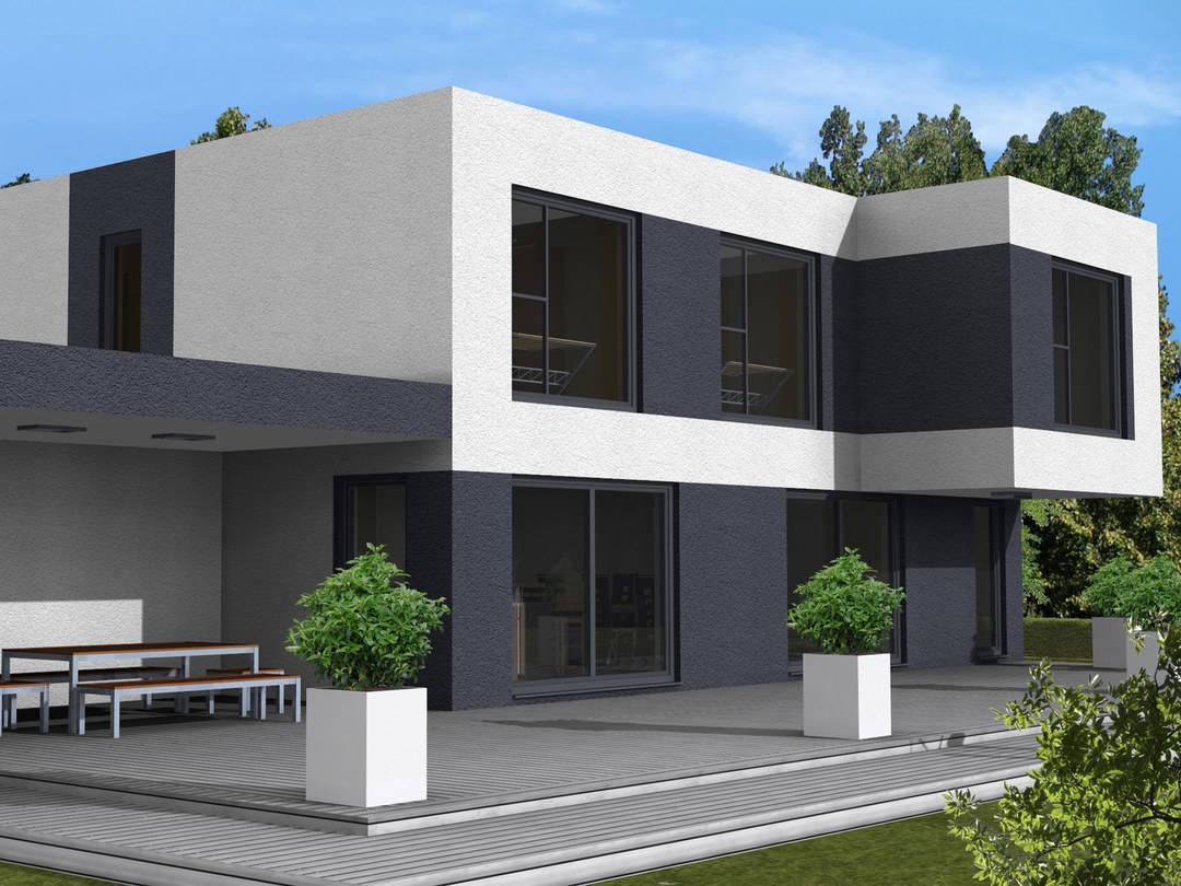 Dörr Haus - Einfamilienhaus Kubus 175 Hauptansicht
