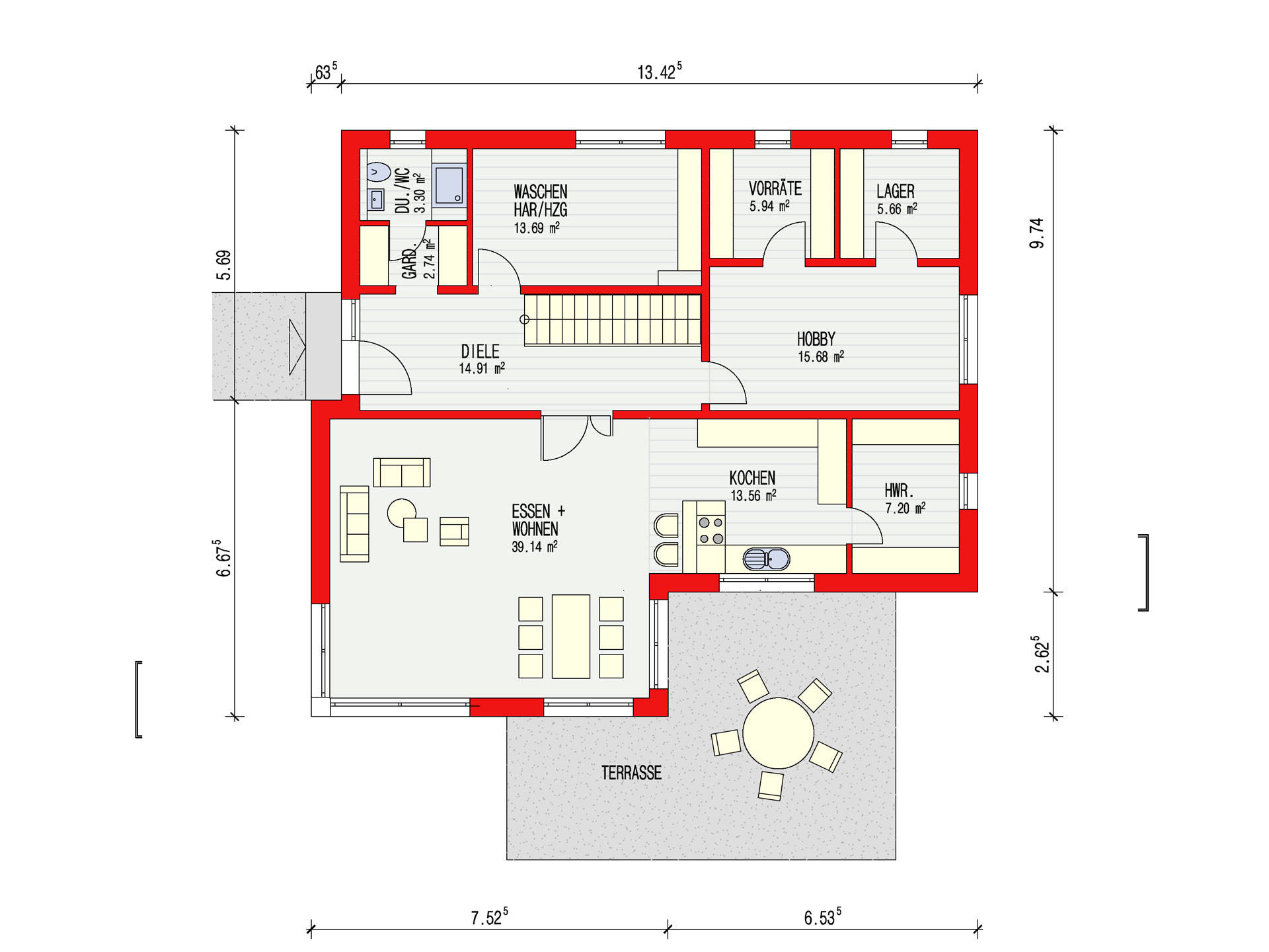 kubus 223 einfamilienhaus d rr haus. Black Bedroom Furniture Sets. Home Design Ideas