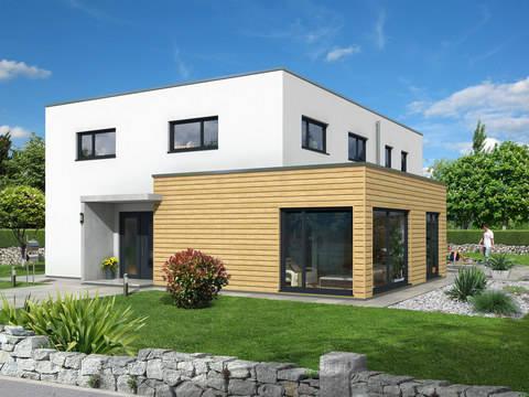 Kubus 223 einfamilienhaus d rr haus for Fertighaus kubus