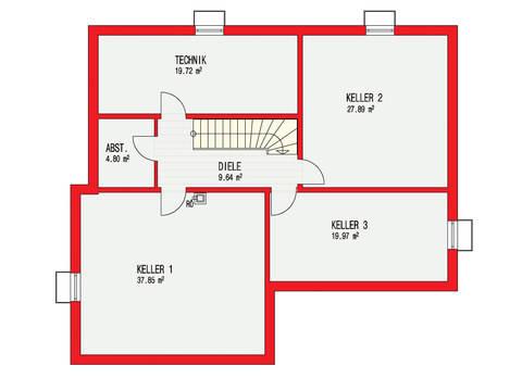 Dörr Haus - Einfamilienhaus Kubus 223 Grundriss KG