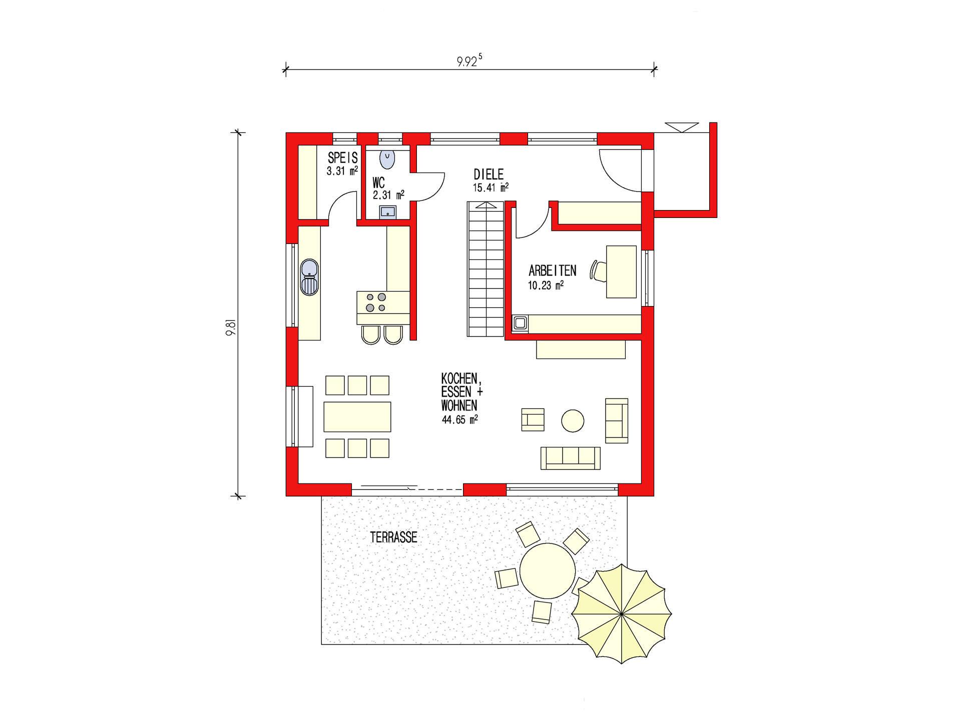 pultdachhaus 150 d rr haus. Black Bedroom Furniture Sets. Home Design Ideas
