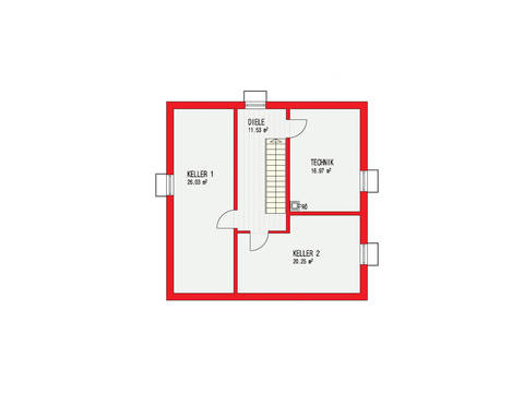 Dörr Haus - Pultdachhaus 150 Grundriss KG