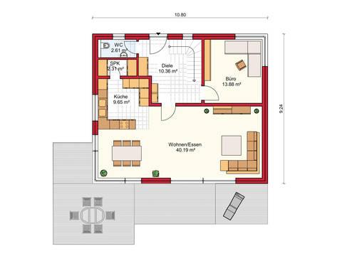 Dörr Haus - Stadthaus 156 Grundriss EG