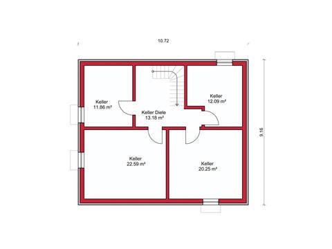 Dörr Haus - Stadthaus 156 Grundriss KG