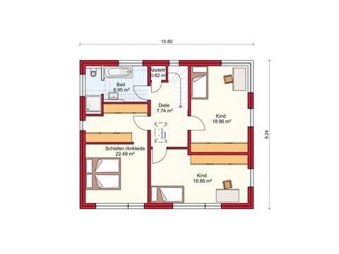Dörr Haus - Stadthaus 156 Grundriss OG