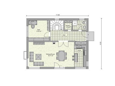 Dörr Haus - Stadthaus 157 M Grundriss EG