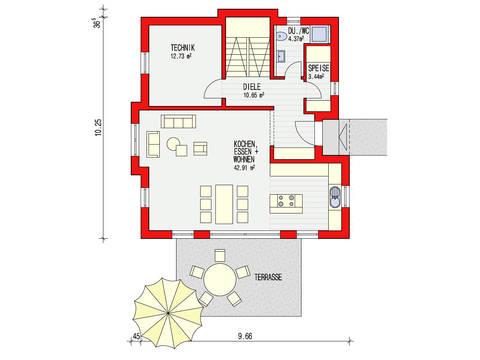 Dörr Haus - Stadtvilla 148 Grundriss EG