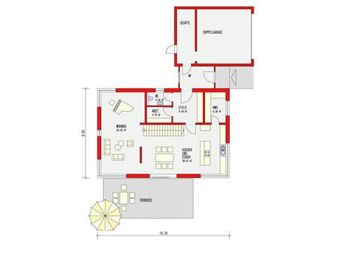 Dörr Haus - Stadtvilla 190 Grundriss EG