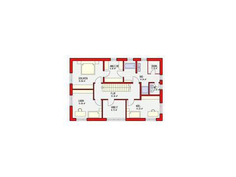 Dörr Haus - Stadtvilla 190 Grundriss OG