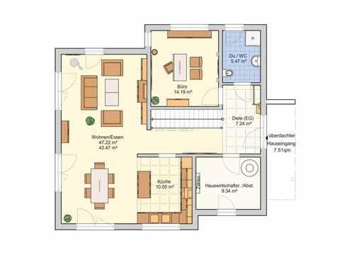 Musterhaus Mannheim R 111.20 - Fingerhut Haus Grundriss EG