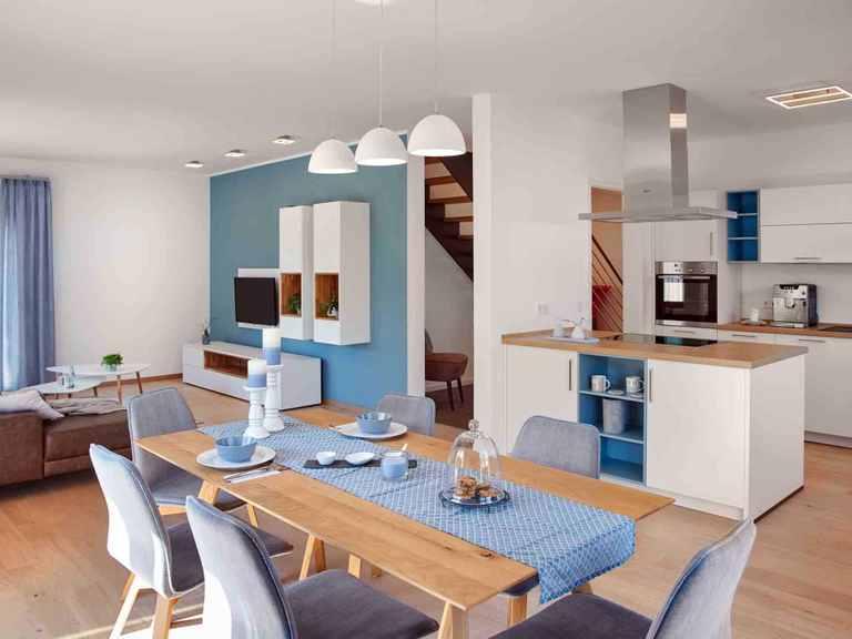 Musterhaus Mannheim R 111.20 - Fingerhut Haus Offene Küche und Essbereich