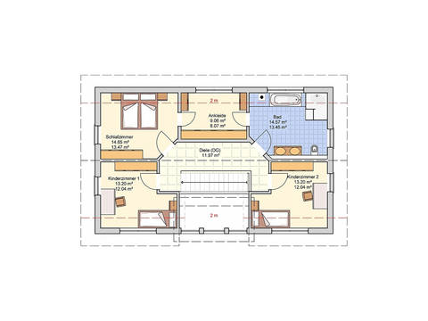Fingerhut Haus Einfamilienhaus R104.10 Grundriss DG