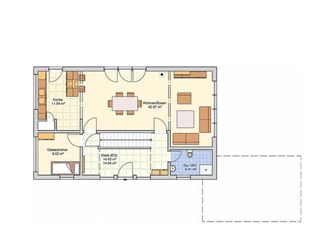 Fingerhut Haus Einfamilienhaus R104.10 Grundriss EG