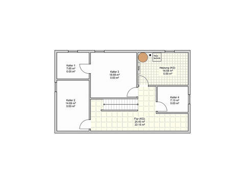 Fingerhut Haus Einfamilienhaus R104.10 Grundriss KG