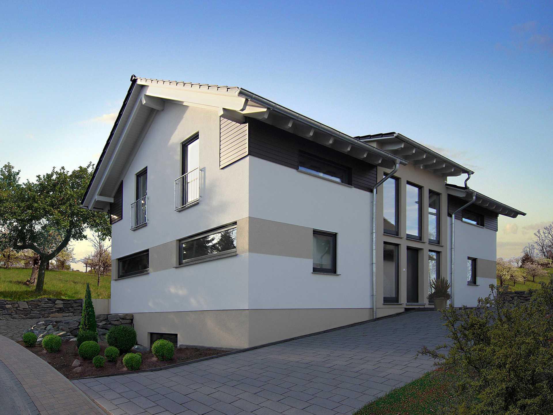 Einfamilienhaus r fingerhut haus for Modernes haus fassade