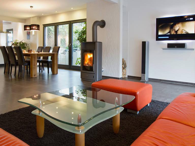 Innenansicht Wohnzimmer - Einfamilienhaus R104.10 - Fingerhut Haus